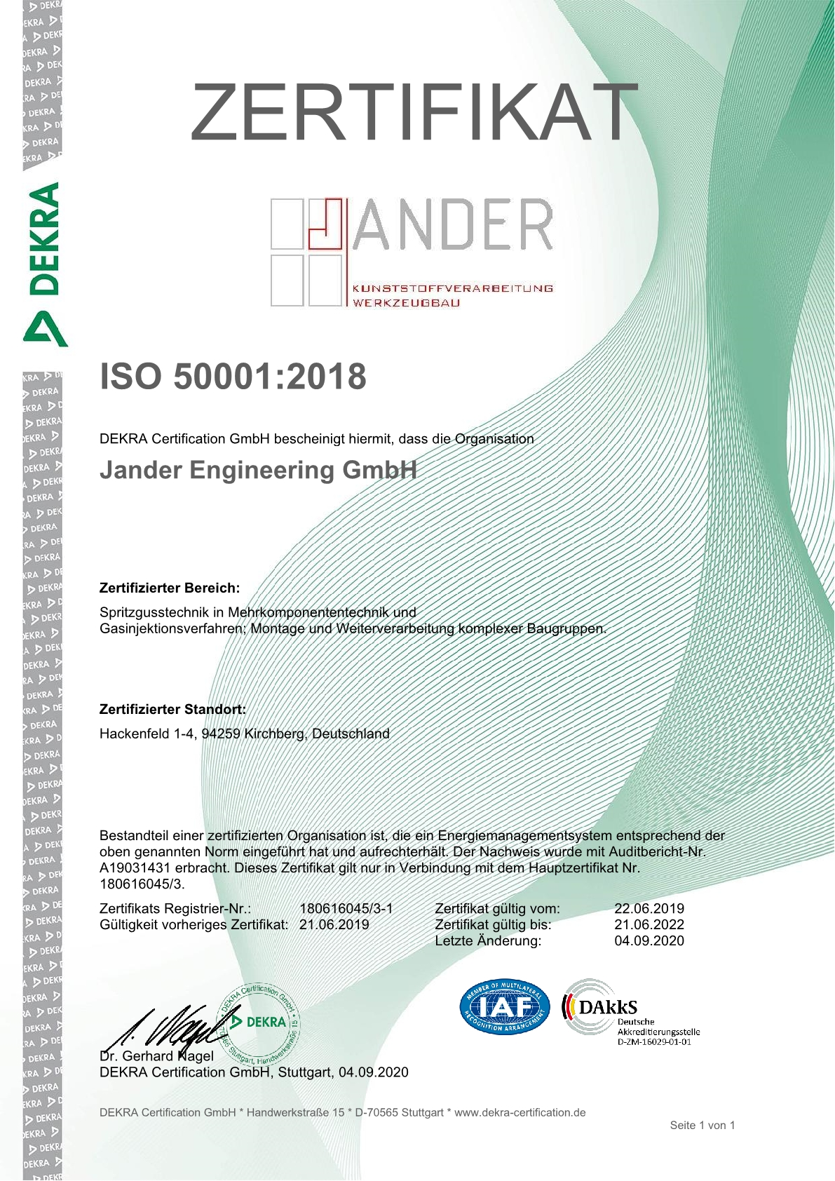 Zertifikat Zert ISO 50001 1 Jander Engineering